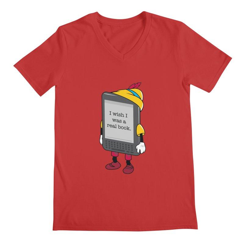 Wish upon an e-book Men's V-Neck by Daniel Stevens's Artist Shop