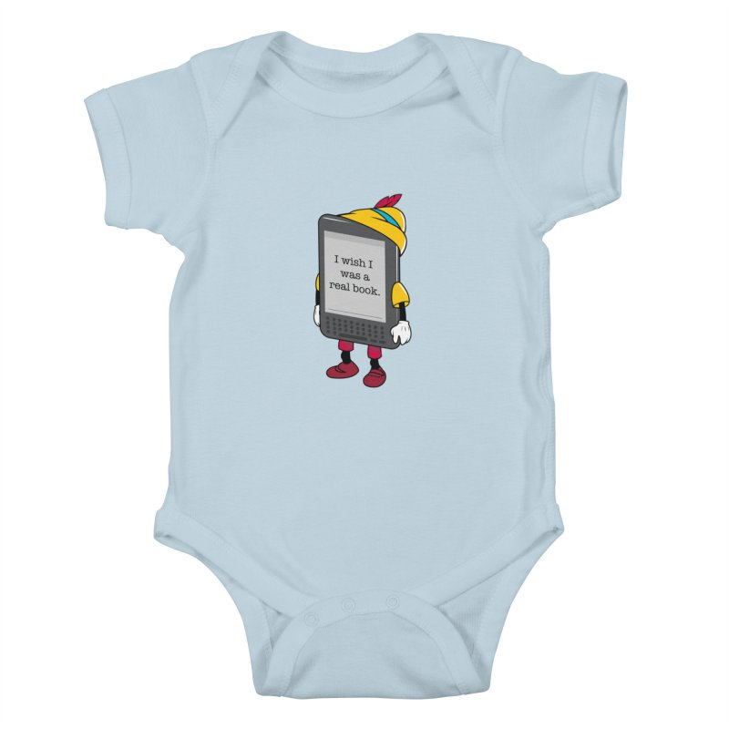 Wish upon an e-book Kids Baby Bodysuit by Daniel Stevens's Artist Shop