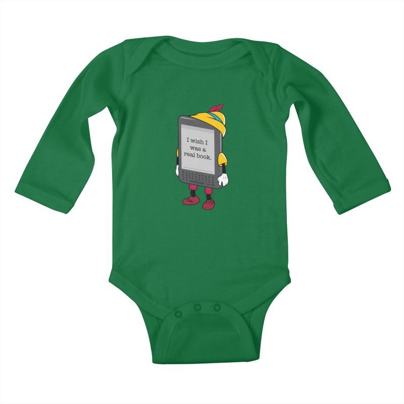 Wish upon an e-book Kids Baby Longsleeve Bodysuit by danielstevens's Artist Shop