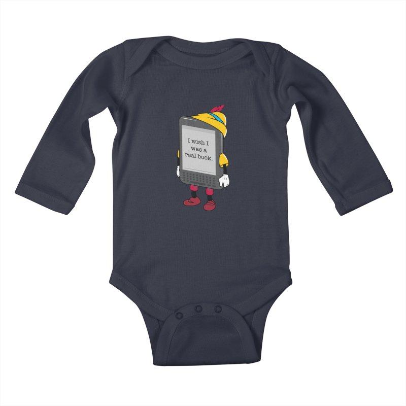 Wish upon an e-book Kids Baby Longsleeve Bodysuit by Daniel Stevens's Artist Shop