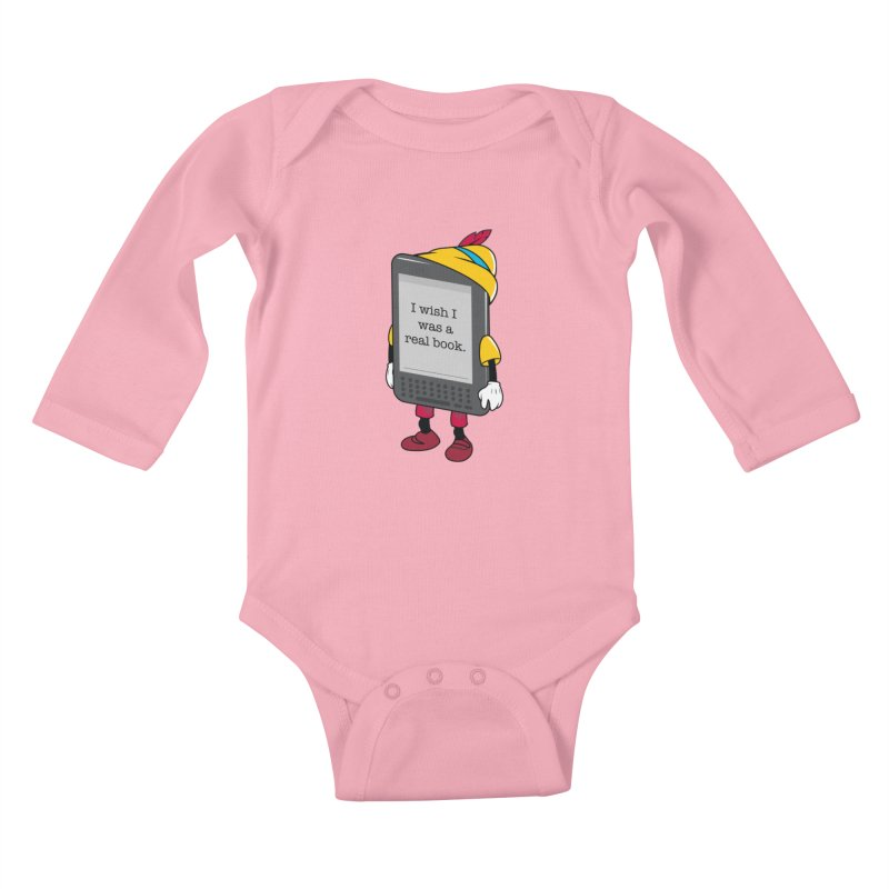 Wish upon an e-book Kids Baby Longsleeve Bodysuit by Daniel Stevens's Artist Shop
