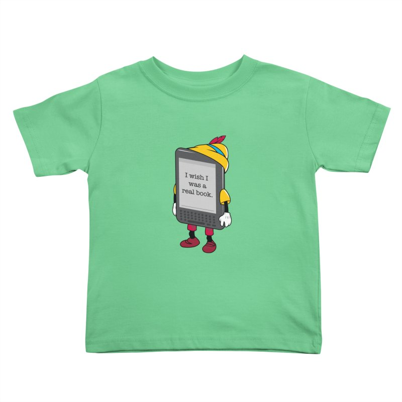 Wish upon an e-book Kids Toddler T-Shirt by danielstevens's Artist Shop