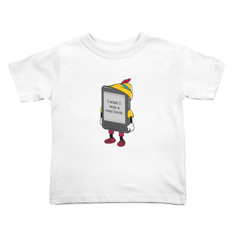 Wish upon an e-book Kids Toddler T-Shirt by Daniel Stevens's Artist Shop