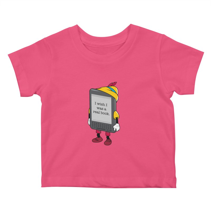 Wish upon an e-book Kids Baby T-Shirt by danielstevens's Artist Shop