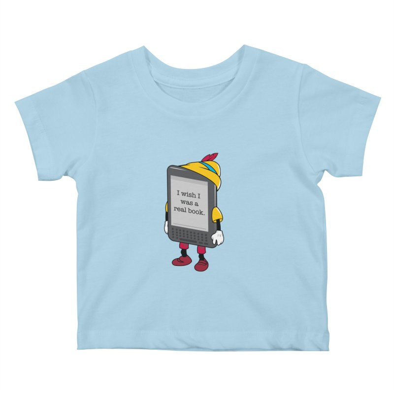 Wish upon an e-book Kids Baby T-Shirt by danielstevens's Artist Shop
