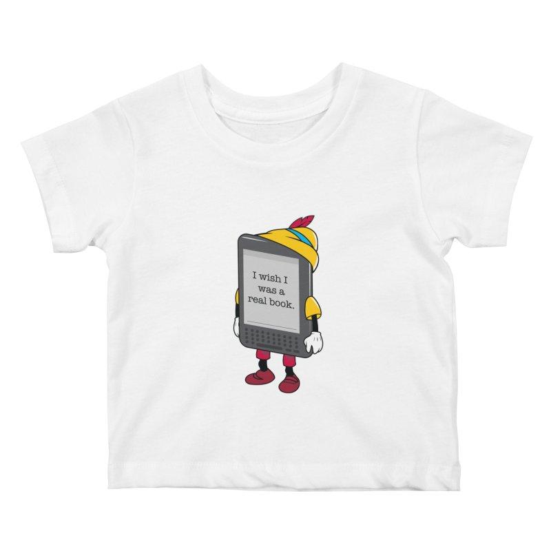 Wish upon an e-book Kids Baby T-Shirt by Daniel Stevens's Artist Shop
