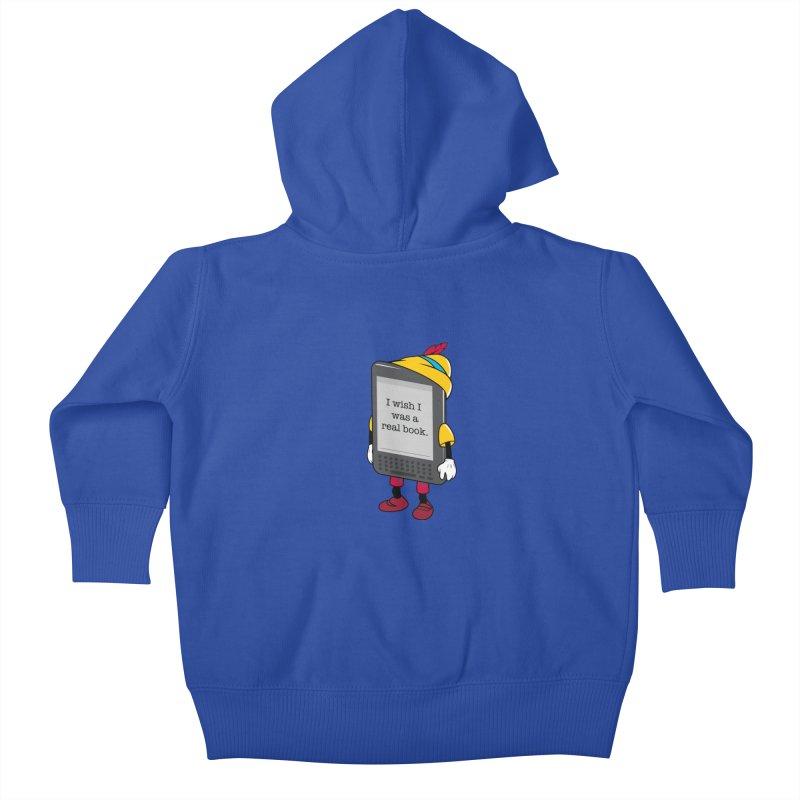 Wish upon an e-book Kids Baby Zip-Up Hoody by Daniel Stevens's Artist Shop