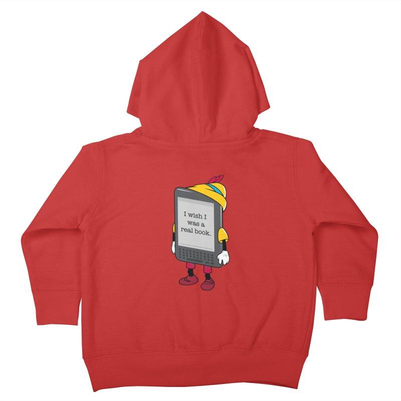 Wish upon an e-book Kids Toddler Zip-Up Hoody by danielstevens's Artist Shop
