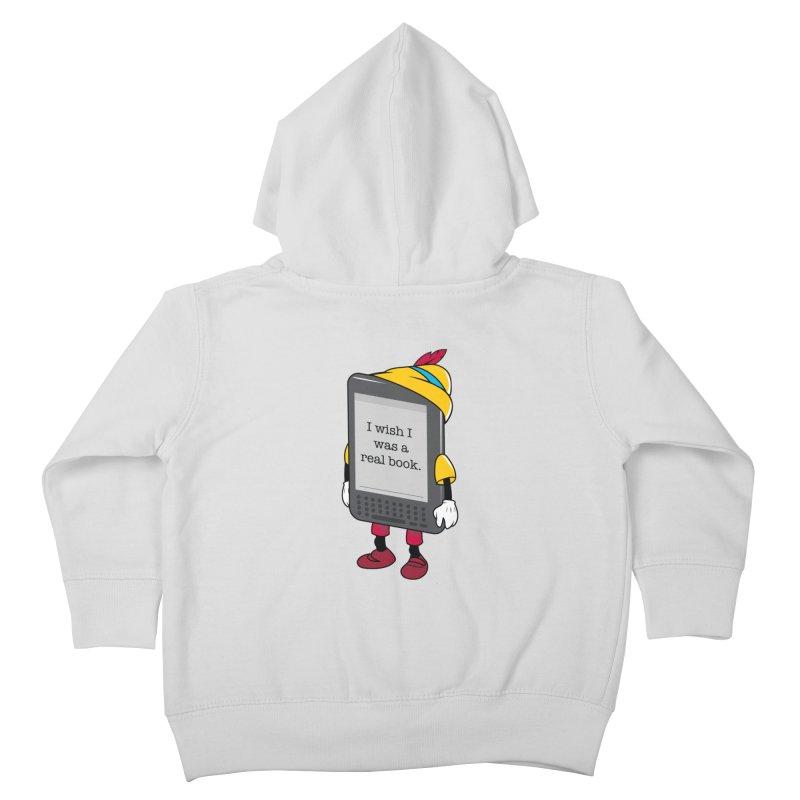 Wish upon an e-book Kids Toddler Zip-Up Hoody by Daniel Stevens's Artist Shop