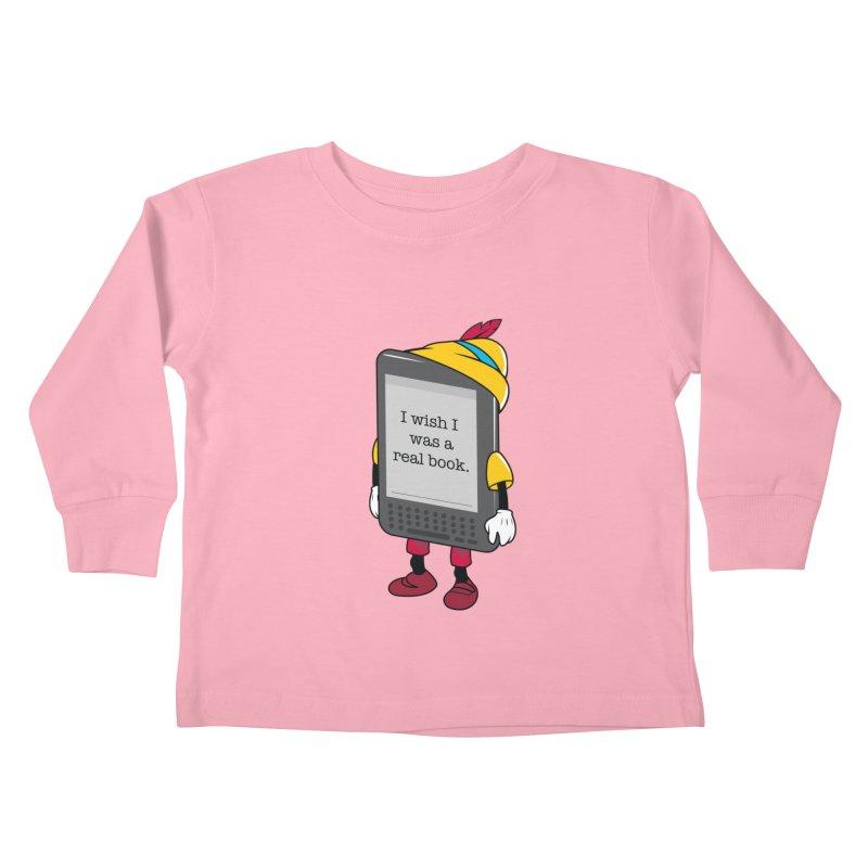 Wish upon an e-book Kids Toddler Longsleeve T-Shirt by Daniel Stevens's Artist Shop