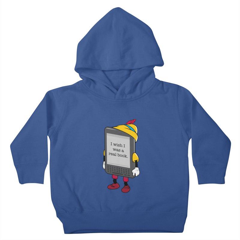 Wish upon an e-book Kids Toddler Pullover Hoody by Daniel Stevens's Artist Shop