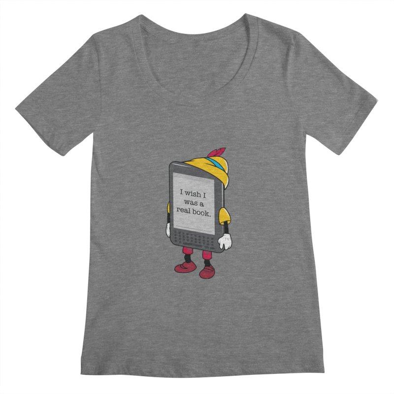 Wish upon an e-book Women's Regular Scoop Neck by danielstevens's Artist Shop