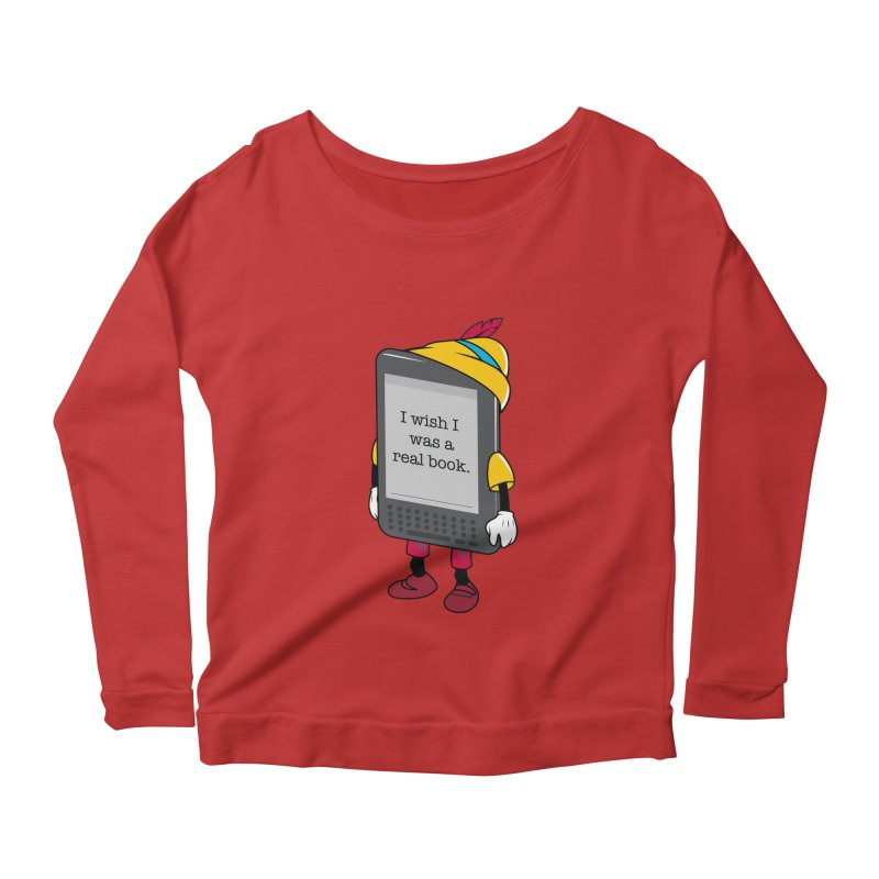 Wish upon an e-book Women's Scoop Neck Longsleeve T-Shirt by danielstevens's Artist Shop