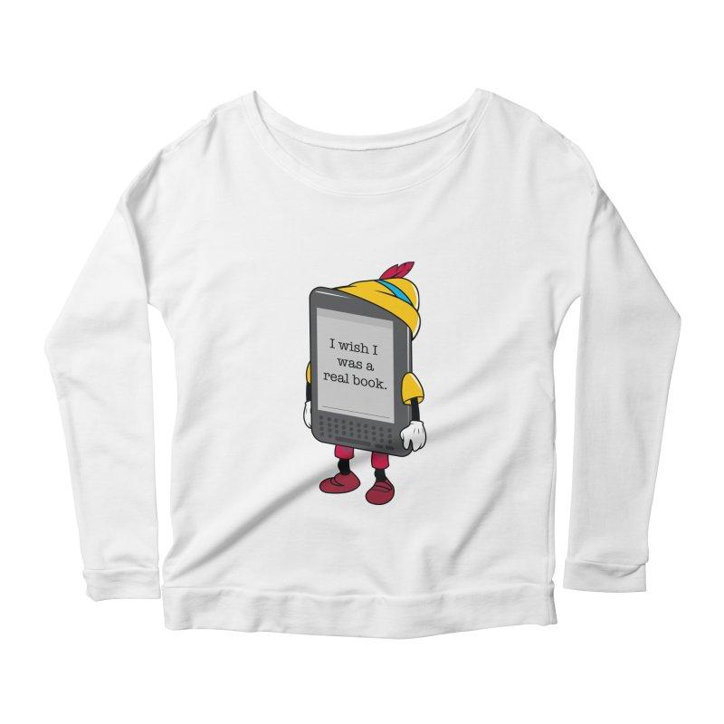 Wish upon an e-book Women's Scoop Neck Longsleeve T-Shirt by danielstevens's Artist Shop