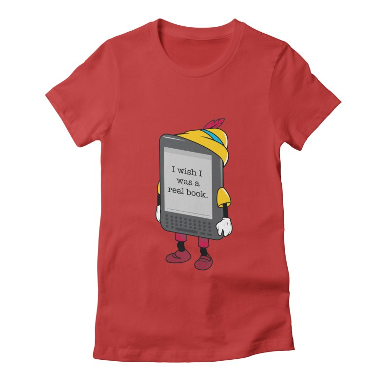 Wish upon an e-book Women's Fitted T-Shirt by danielstevens's Artist Shop
