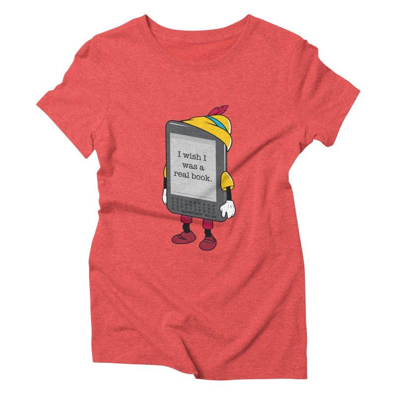 Wish upon an e-book Women's Triblend T-Shirt by danielstevens's Artist Shop