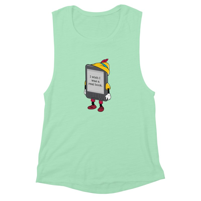 Wish upon an e-book Women's Muscle Tank by Daniel Stevens's Artist Shop