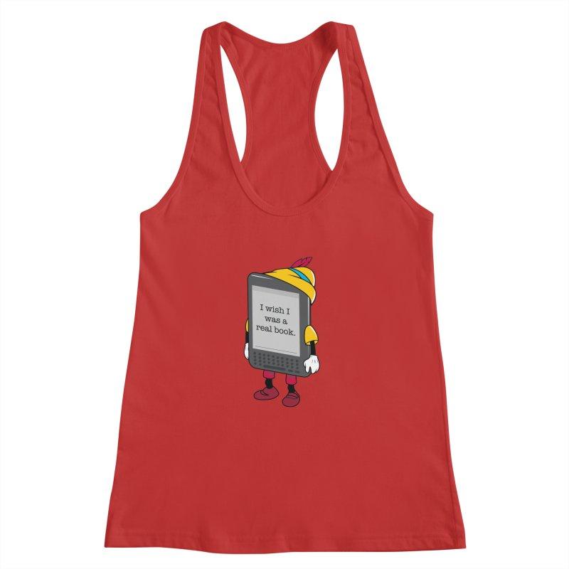 Wish upon an e-book Women's Racerback Tank by danielstevens's Artist Shop