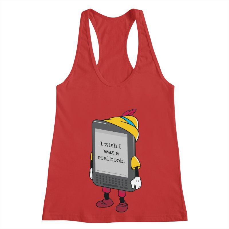 Wish upon an e-book Women's Racerback Tank by Daniel Stevens's Artist Shop