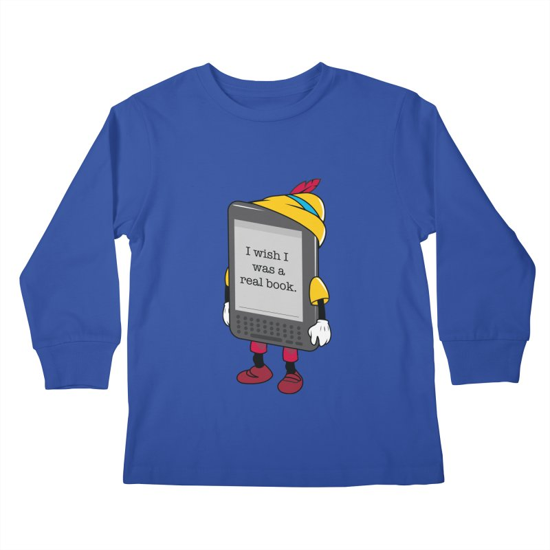Wish upon an e-book Kids Longsleeve T-Shirt by Daniel Stevens's Artist Shop