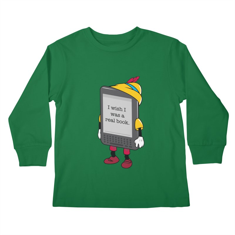 Wish upon an e-book Kids Longsleeve T-Shirt by danielstevens's Artist Shop