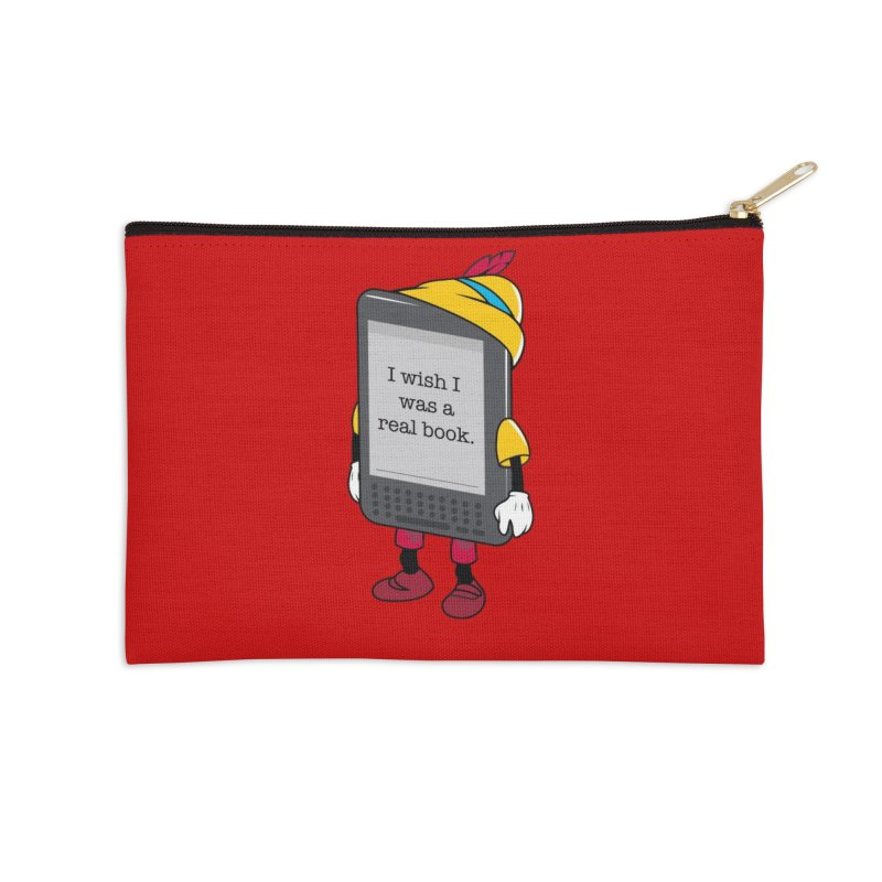 Wish upon an e-book Accessories Zip Pouch by Daniel Stevens's Artist Shop