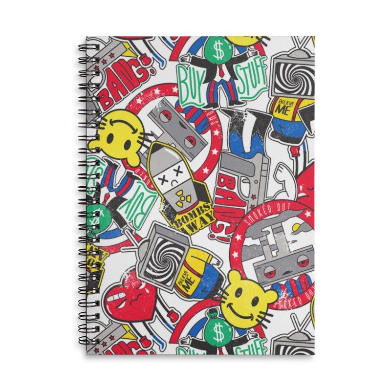 Addict Accessories Notebook by Daniel Stevens's Artist Shop