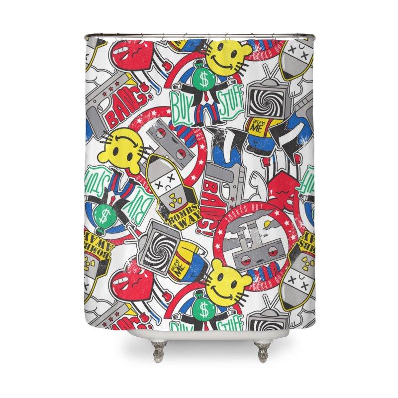 Addict Home Shower Curtain by danielstevens's Artist Shop