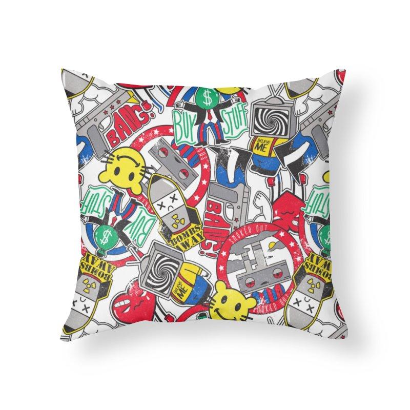 Addict Home Throw Pillow by danielstevens's Artist Shop