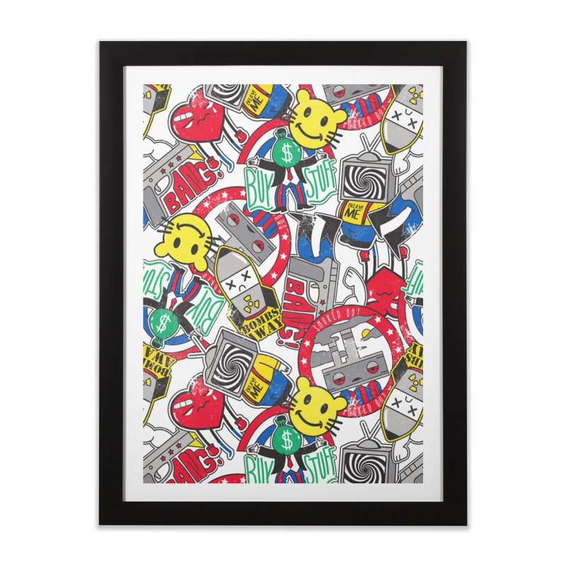 Addict Home Framed Fine Art Print by danielstevens's Artist Shop