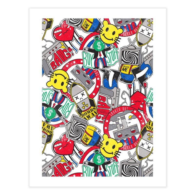 Addict Home Fine Art Print by Daniel Stevens's Artist Shop