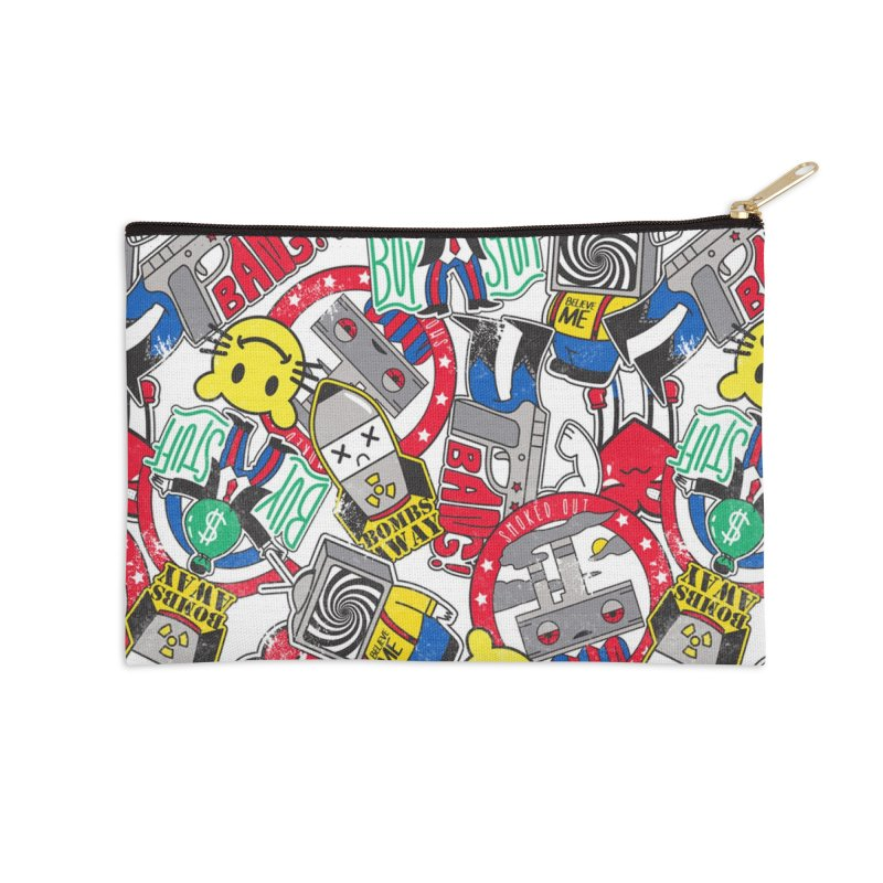 Addict Accessories Zip Pouch by Daniel Stevens's Artist Shop