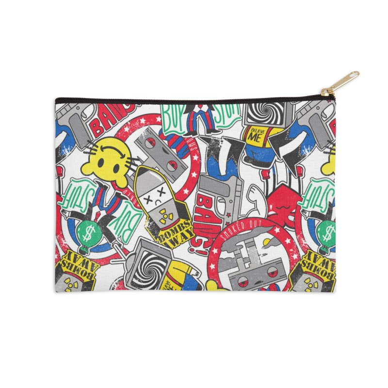 Addict Accessories Zip Pouch by Daniel Stevens's Artist Shop
