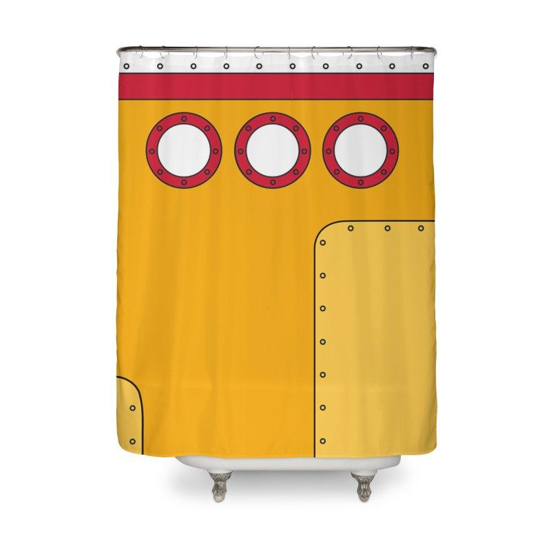 Yellow Sub Home Shower Curtain by danielstevens's Artist Shop