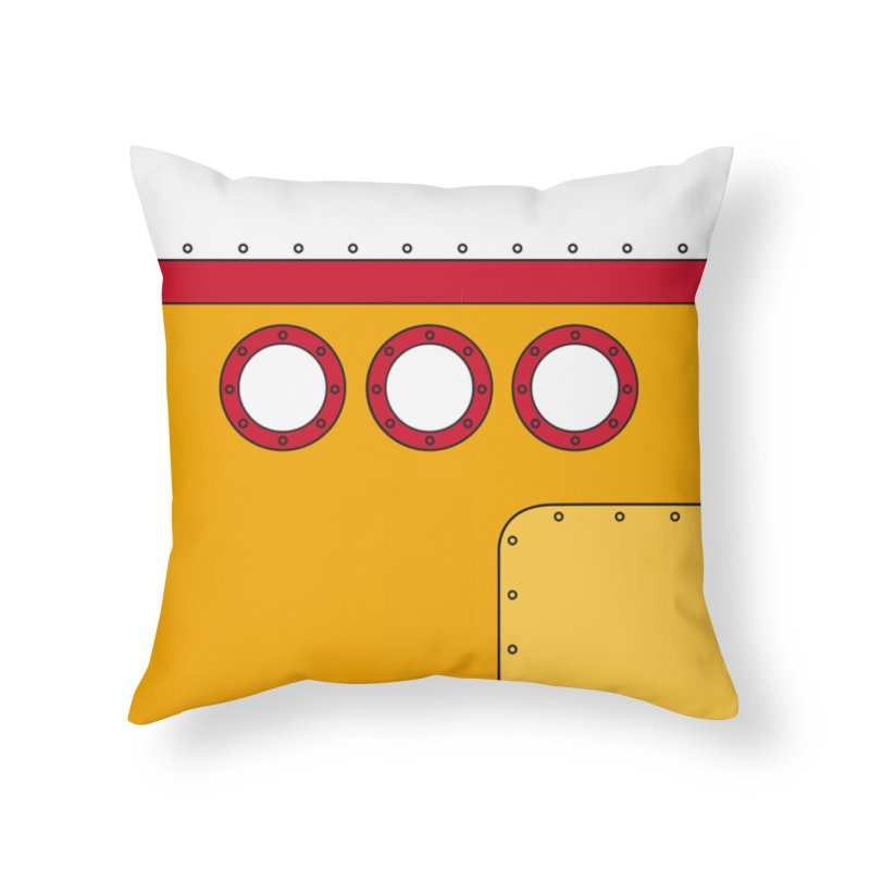 Yellow Sub in Throw Pillow by Daniel Stevens's Artist Shop