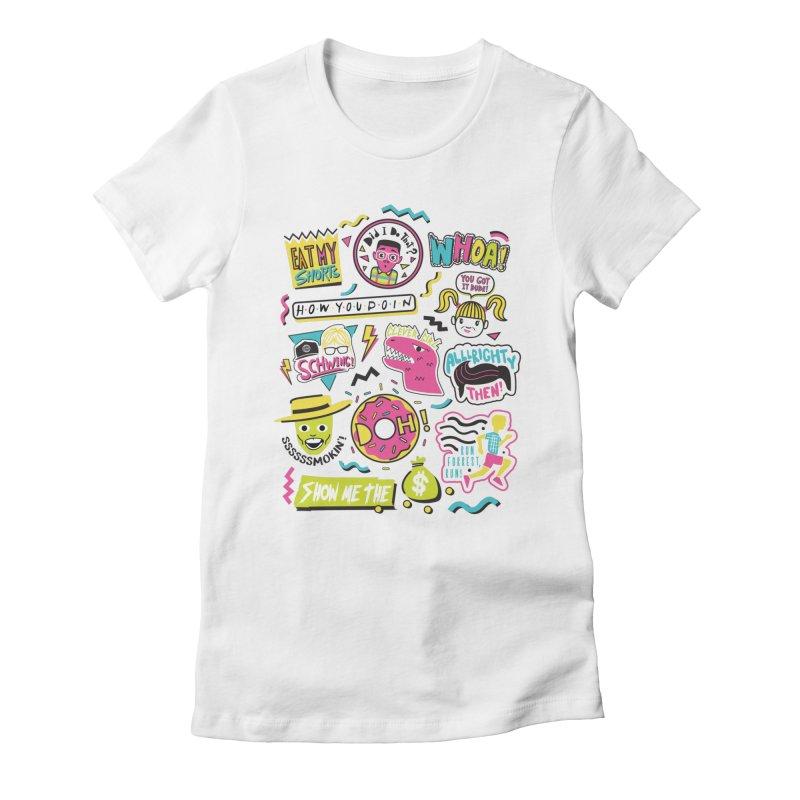Say Whaaat! Women's Fitted T-Shirt by danielstevens's Artist Shop