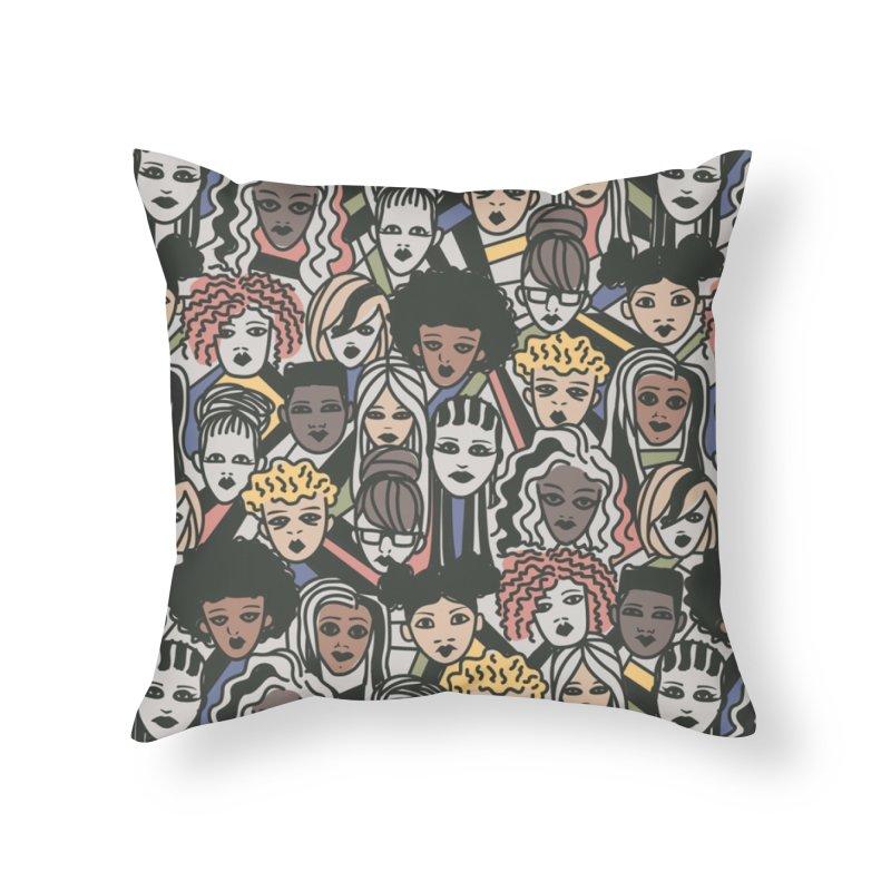 Connected Home Throw Pillow by danielstevens's Artist Shop