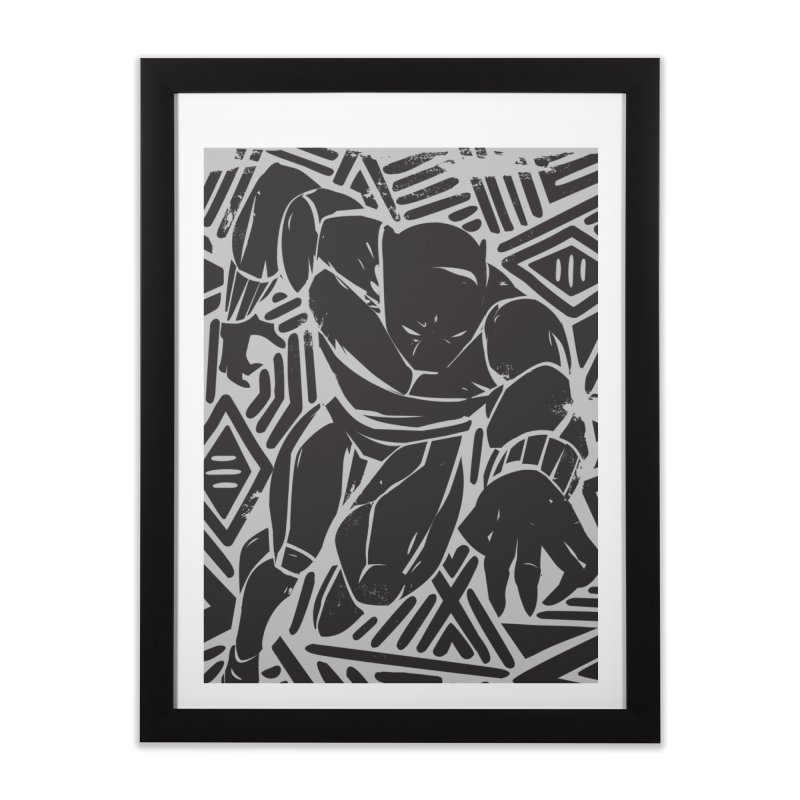 Panther Home Framed Fine Art Print by Daniel Stevens's Artist Shop
