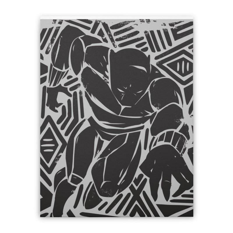 Panther Home Stretched Canvas by Daniel Stevens's Artist Shop