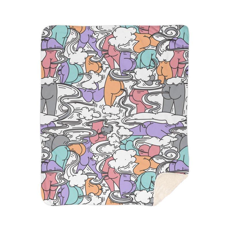 Everybody Farts Home Sherpa Blanket Blanket by Daniel Stevens's Artist Shop