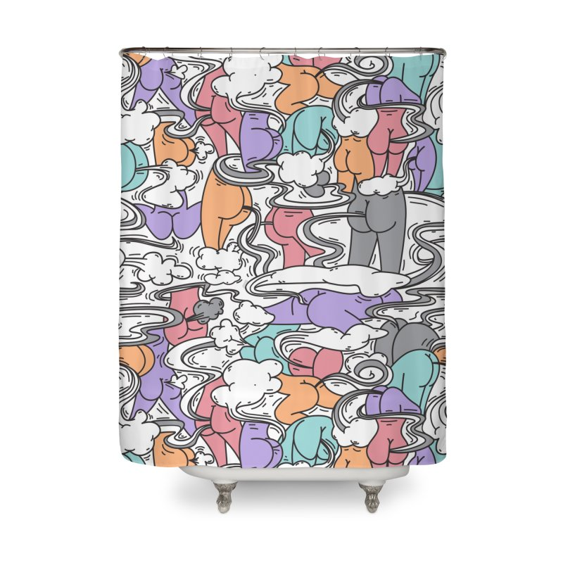Everybody Farts Home Shower Curtain by Daniel Stevens's Artist Shop