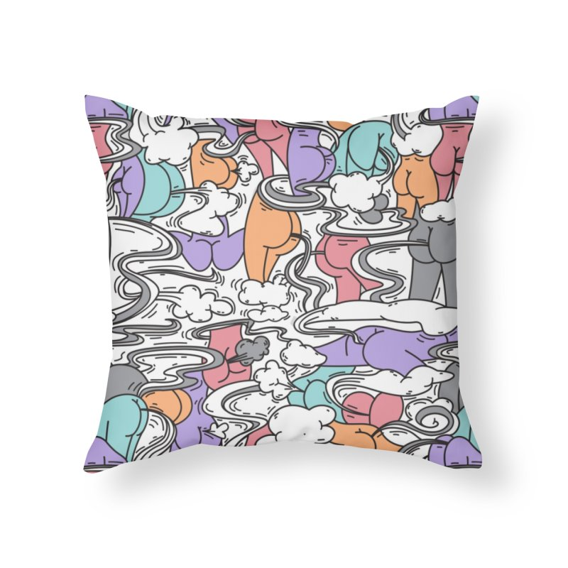 Everybody Farts Home Throw Pillow by Daniel Stevens's Artist Shop