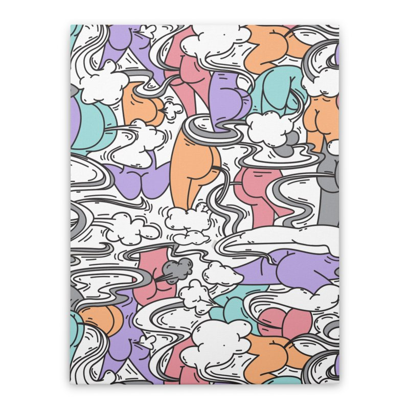 Everybody Farts Home Stretched Canvas by Daniel Stevens's Artist Shop