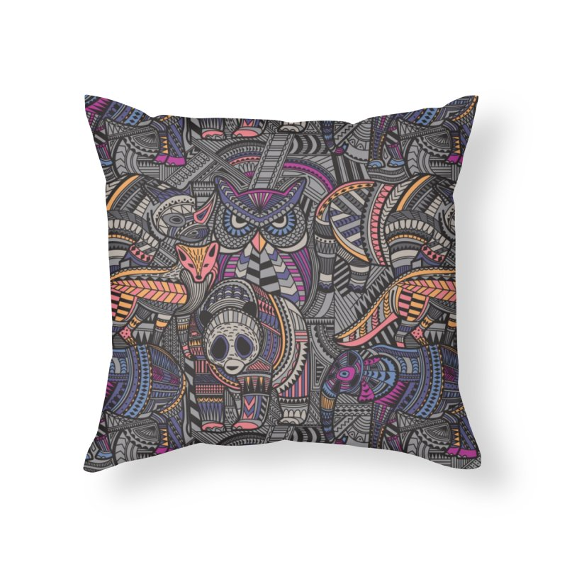 Tribe in Throw Pillow by Daniel Stevens's Artist Shop