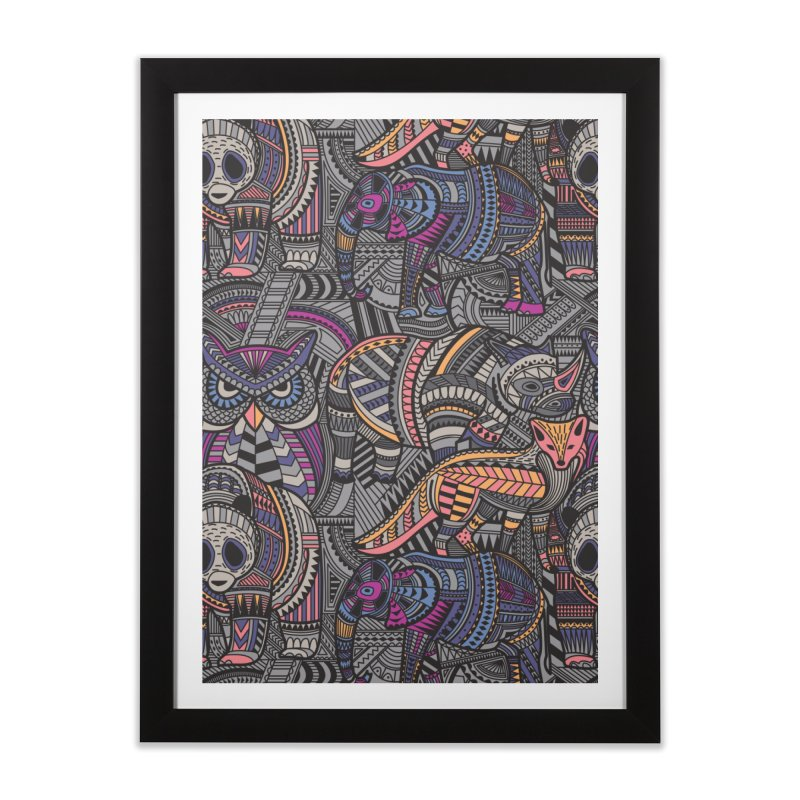 Tribe Home Framed Fine Art Print by danielstevens's Artist Shop