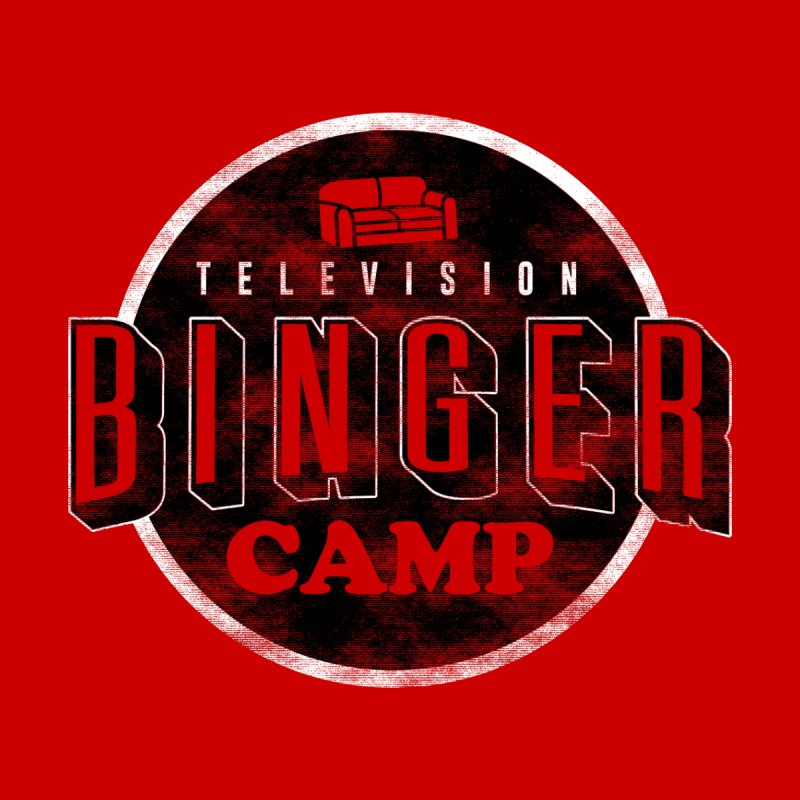 TV BINGER CAMP Home Stretched Canvas by Daniel Stevens's Artist Shop