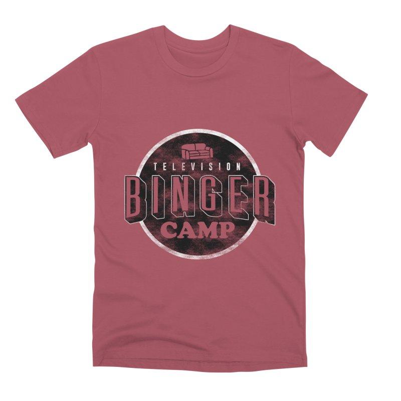 TV BINGER CAMP Men's T-Shirt by Daniel Stevens's Artist Shop