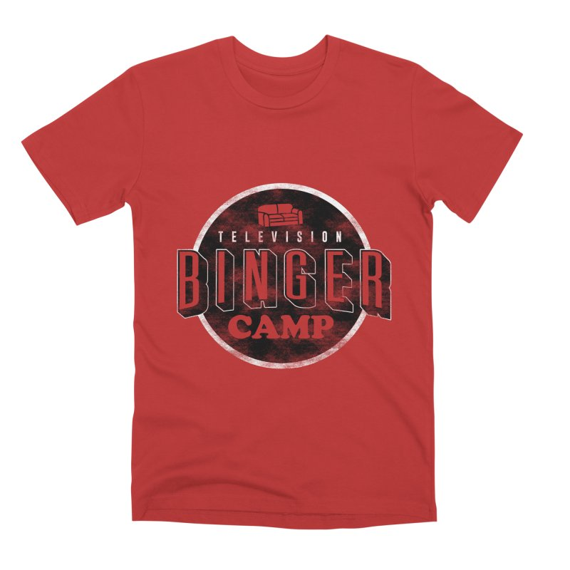 TV BINGER CAMP Men's Premium T-Shirt by danielstevens's Artist Shop