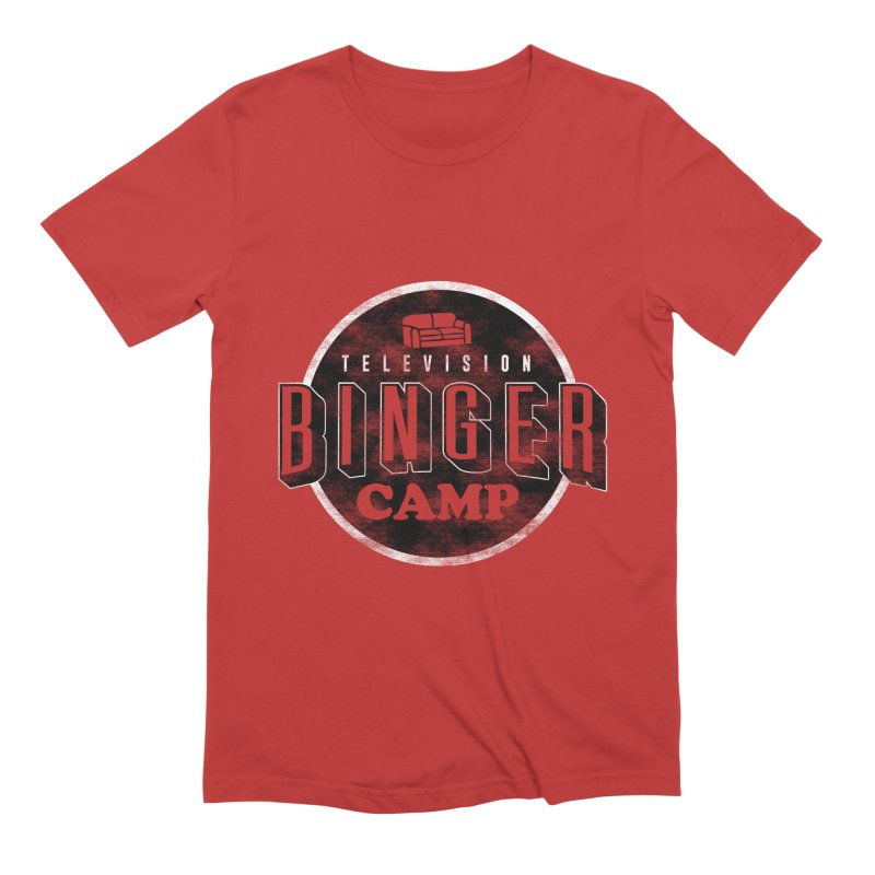 TV Binger Camp Men's T-Shirt by Daniel Stevens's Artist Shop