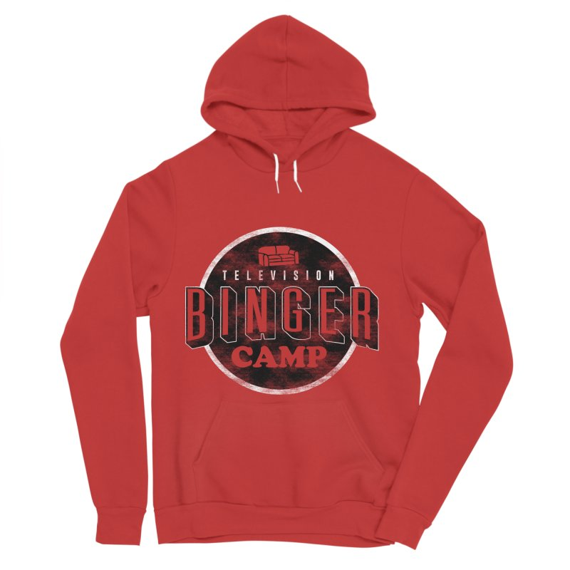 TV BINGER CAMP Women's Sponge Fleece Pullover Hoody by Daniel Stevens's Artist Shop